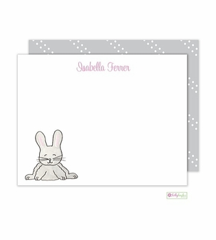 personalized - cottontail flat notes