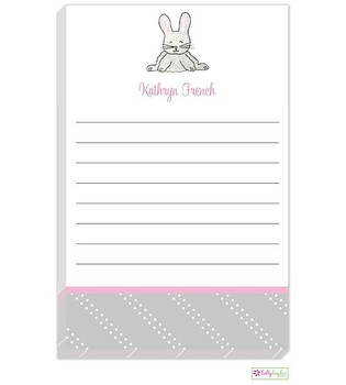 personalized - cottontail notepad
