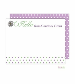 personalized - daisy dots flat notes