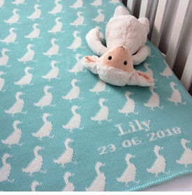 personalized duck baby blanket