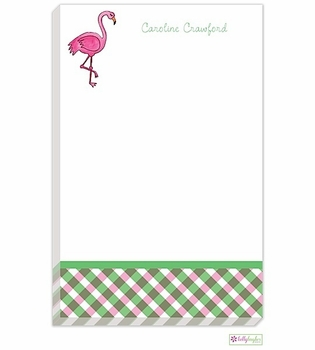 personalized - fancy flamingo notepad