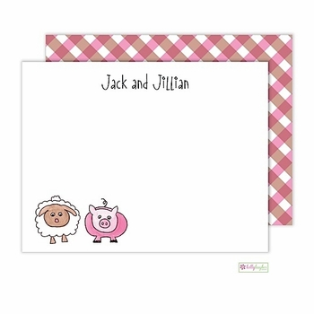 personalized - farm friends flat notes