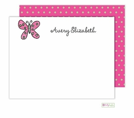 personalized - flutter butterfly flat notes