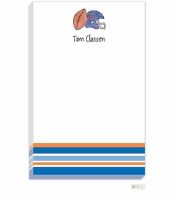 personalized - football fanatic notepad