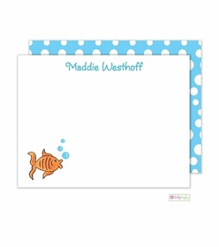 personalized - goldie the fish flat notes