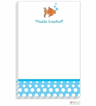 personalized - goldie the fish notepad