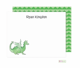 personalized - green dragon flat notes