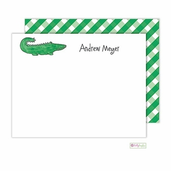 personalized - green gator flat notes