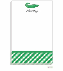personalized - green gator notepad