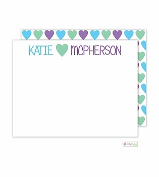 personalized - heart you flat notes