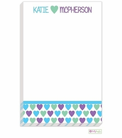 personalized - heart you notepad
