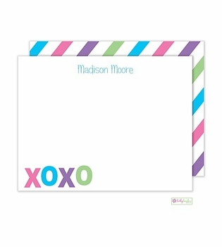 personalized - hugs and kisses flat notes