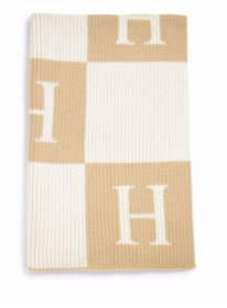 personalized initial and block blanket