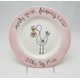 personalized just arrived stork girl plate