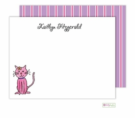 personalized - kitty kitty flat notes