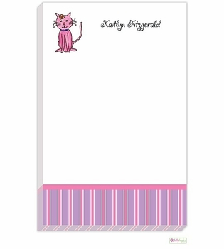 personalized - kitty kitty notepad