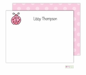 personalized - little ladybug flat notes