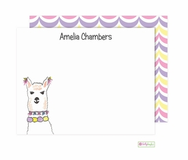 personalized - llama love flat notes