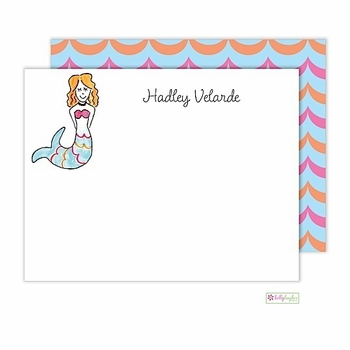 personalized - mermaid flat notes