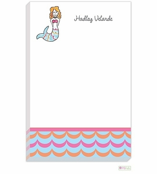 personalized - mermaid notepad