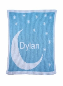 personalized moon & stars baby blanket