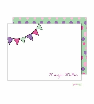 personalized - party flags flat notes