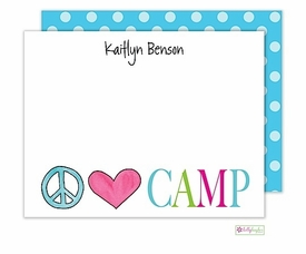 personalized - peace love camp flat notes