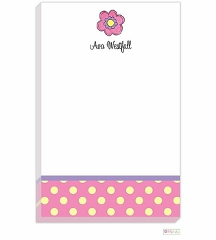 personalized - pink daisy notepad