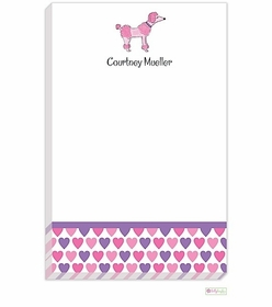 personalized - pink poodle notepad