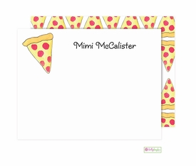 personalized - pizza pie flat notes