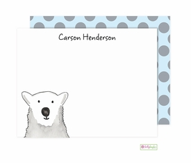 personalized - polar bear flat notes