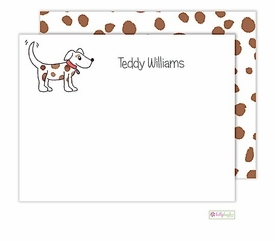 personalized - puppy dog flat notes