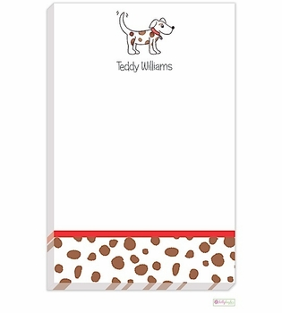 personalized - puppy dog notepad