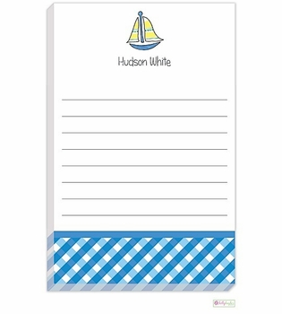 personalized - sailboat notepad