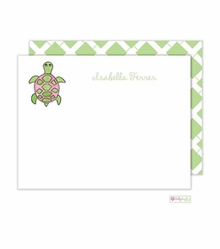 personalized - sea turtle flat notes