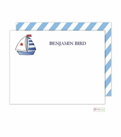 personalized - set sail flat notes