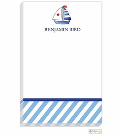 personalized - set sail notepad