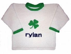 personalized shamrock luck sweater