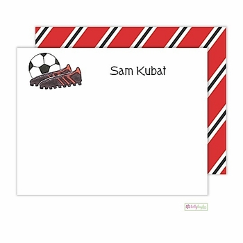 personalized - soccer stud flat notes