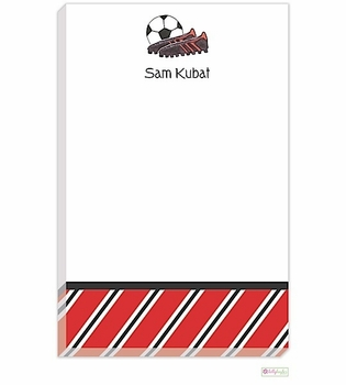 personalized - soccer stud notepad