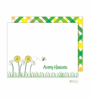 personalized - summer garden flat notes