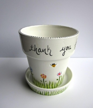 personalized teacher gift / ceramic flower pot