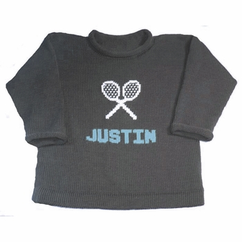 personalized tennis sweater with name