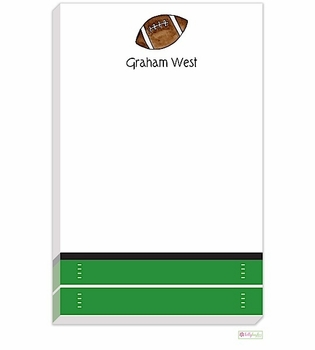 personalized - touchdown notepad