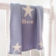 personalized triple stars baby blanket