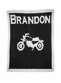 personalized vintage motorcycle blanket with name