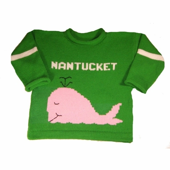 personalized whale pullover sweater