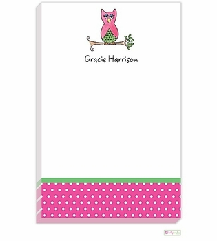 personalized - what a hoot notepad