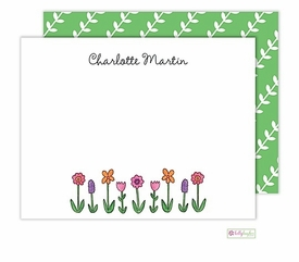 personalized - wildflowers flat notes