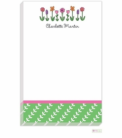 personalized - wildflowers notepad
